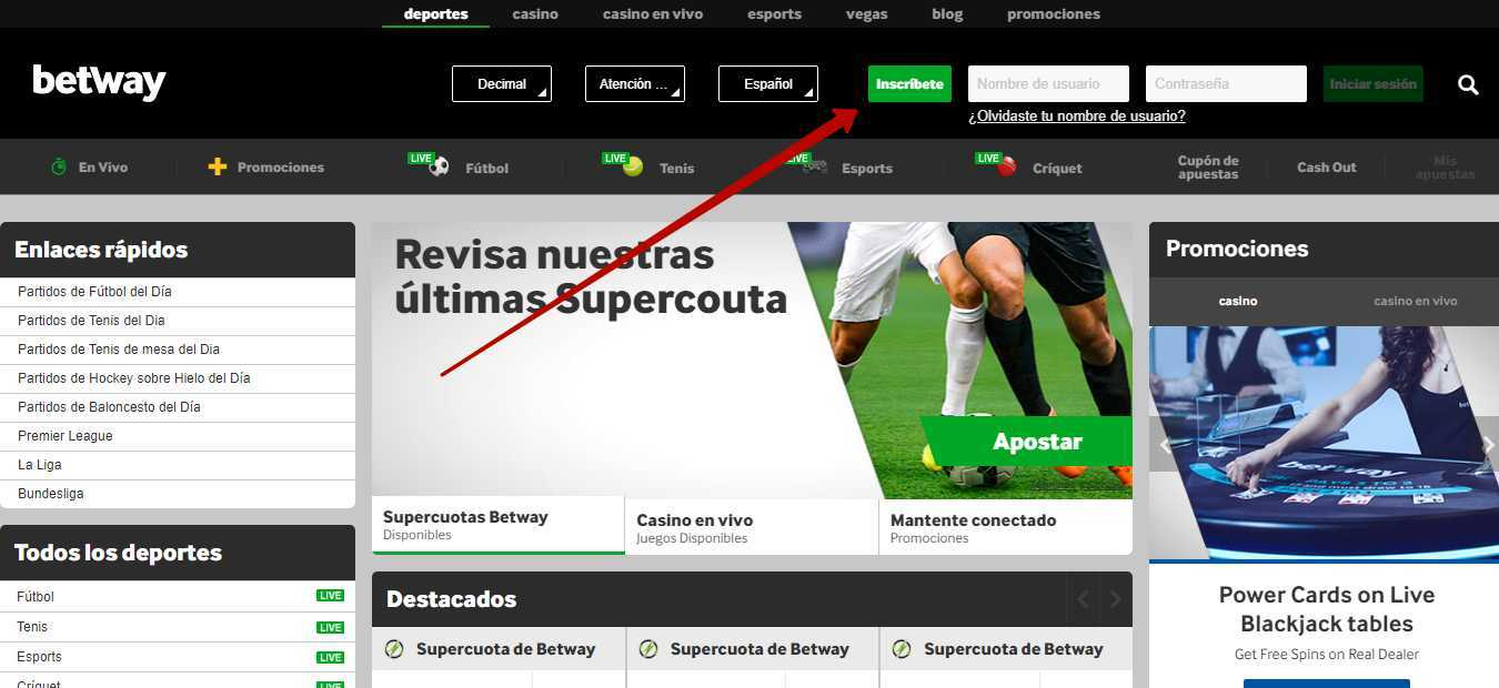 Betway registration Spania