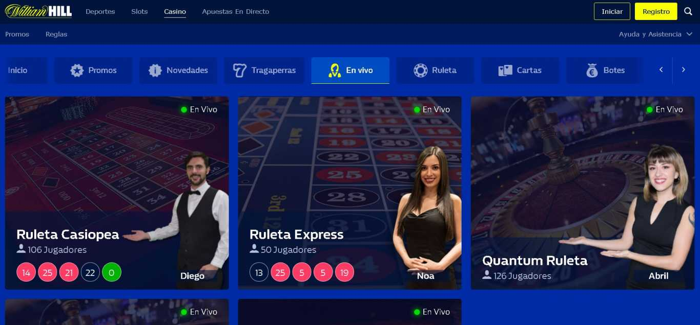 William Hill casino live