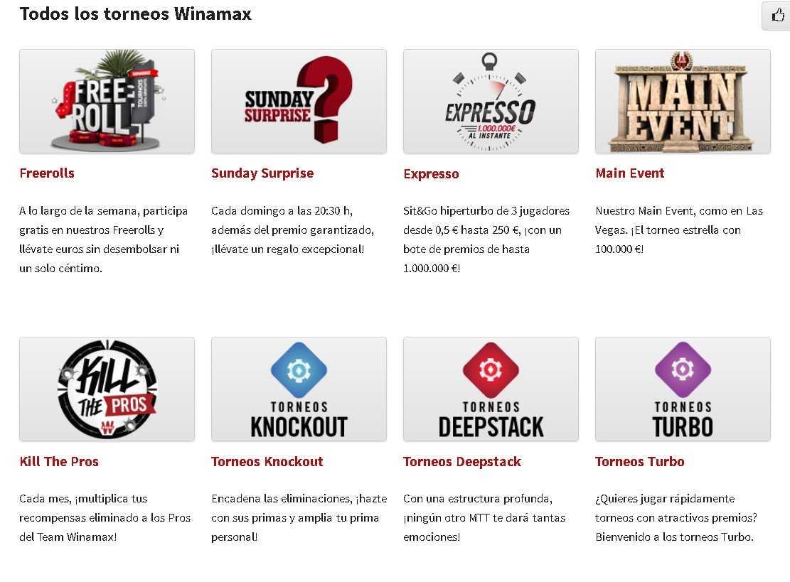 Winamax poker tournaments